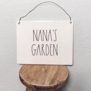 Rae Dunn Nana's Garden Plaque